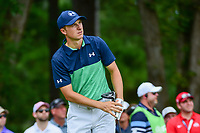Jordan Spieth (USA) watches his tee shot on 5 during Friday's round 2 of the PGA Championship at the Quail Hollow Club in Charlotte, North Carolina. 8/11/2017.<br /> Picture: Golffile | Ken Murray<br /> <br /> <br /> All photo usage must carry mandatory copyright credit (&copy; Golffile | Ken Murray)