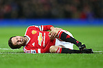 Juan Mata of Manchester United injured - Barclay's Premier League - Manchester United vs Watford - Old Trafford - Manchester - 02/03/2016 Pic Philip Oldham/SportImage