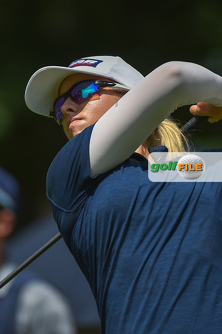Jodi Ewart Shadoff (ENG) watches her tee shot on 1 during round 3 of the U.S. Women's Open Championship, Shoal Creek Country Club, at Birmingham, Alabama, USA. 6/2/2018.<br /> Picture: Golffile | Ken Murray<br /> <br /> All photo usage must carry mandatory copyright credit (© Golffile | Ken Murray)