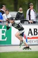 INLINE-SKATEN: HEERDE: Skeeler- en Skatecentrum Hoornscheveen, Europa Cup/Univé Skate Off, 05-05-2012, Etienne Ramali GER (#34), ©foto Martin de Jong