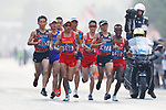 (L to R) <br />  Hiroto Inoue, <br /> Hayato Sonoda (JPN), <br /> AUGUST 25, 2018 - Athletics - Marathon : <br /> Men's Marathon <br /> at Marathon Course <br /> during the 2018 Jakarta Palembang Asian Games <br /> in Jakarta, Indonesia. <br /> (Photo by Naoki Morita/AFLO SPORT)