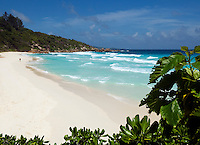 Seychelles, Island La Digue, Petite Anse: secluded beach in the southeast<br />