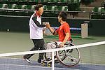 (L-R) Naoki Inose, Shingo Kunieda, MARCH 4, 2013 : IOC Evaluation Commission visit at Ariake Coliseum, Tokyo, Japan. (Photo by AFLO SPORT)