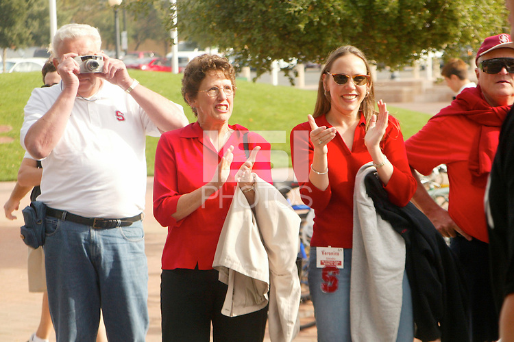 Parents as the seniors take their last walk before Stanford's 31-21 loss to Oregon State on November 16, 2002.<br />