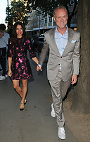 Lauren Barber and Gary Kemp at the LFW (Men's) s/s 2019 GQ Dinner to close this season's London Fashion Week Men's, Palm Court at The Principal London, Russell Square, London, England, UK, on Monday 11 June 2018.<br /> CAP/CAN<br /> &copy;CAN/Capital Pictures