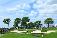 Kevin Kisner (USA) on the 1st green in action during the third round of the Northern Trust, played at Liberty National Golf Club, Jersey City, New Jersey, USA 10/08/2019<br /> Picture: Golffile | Michael Cohen<br /> <br /> All photo usage must carry mandatory copyright credit (© Golffile | Phil Inglis)