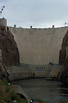 Hoover Dam on border of Arizona, AZ, Nevada, NV, flood control, drinking water source, Colorado River, image nv412-18625.Photo copyright: Lee Foster, www.fostertravel.com, lee@fostertravel.com, 510-549-2202
