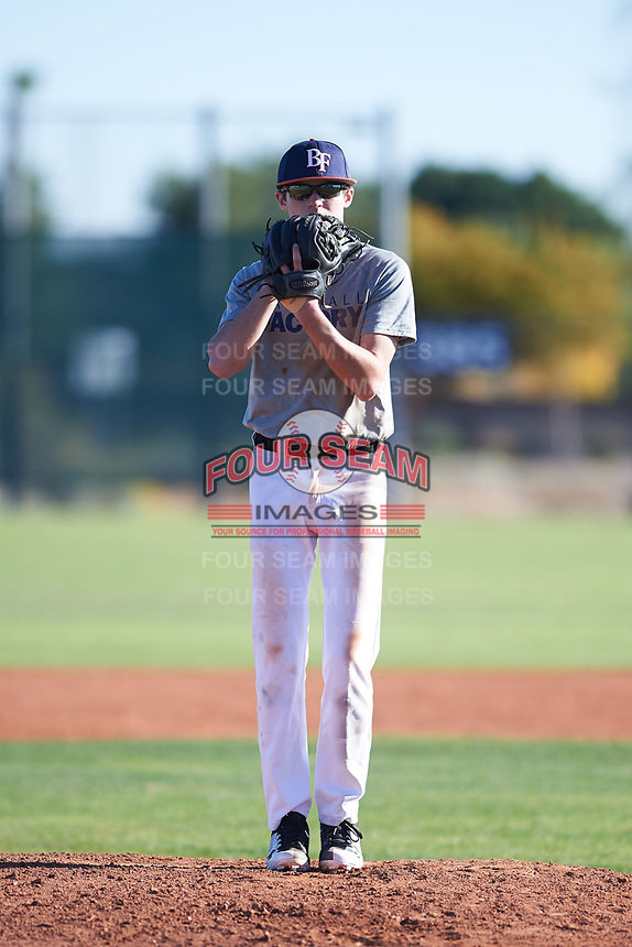 Trevor Pastega (45), from Woodway, Washington, while playing for the Tigers during the Under Armour Baseball Factory Recruiting Classic at Red Mountain Baseball Complex on December 28, 2017 in Mesa, Arizona. (Zachary Lucy/Four Seam Images)