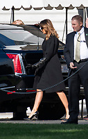 First lady Melania Trump get into her car in the motorcade to travel to the Supreme Court of the US for the Investiture ceremony for Associate Justice of the Supreme Court Brett Kavanaugh in Washington, DC on Thursday, November 8, 2018.<br /> Credit: Ron Sachs / Pool via CNP /MediaPunch