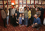 Katharine McPhee, Ben Thompson, Drew Gehling, Sara Bareilles and Natasha Yvette Williams with the cast attend the Sardi's Portrait unveiling for Sara Bareilles  at Sardi's Restaurant on April 3, 2018 in New York City.