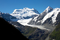 The Grand Combin massif, Switzerland, with the Glacier de Corbassiere flowing from its base.