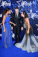 Rochelle Humes, Roman Kemp and Myleene Klass<br /> arriving for the Global Awards 2018 at the Apollo Hammersmith, London<br /> <br /> ©Ash Knotek  D3384  01/03/2018