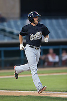 Stewart Ijames (23) of the Visalia Rawhide runs to first base during a game against the Lancaster JetHawks at The Hanger on June 16, 2015 in Lancaster, California. Lancaster defeated Visalia, 11-3. (Larry Goren/Four Seam Images)
