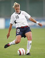10 July 2005:  Aly Wagner of USA in action against Ukraine at Merlo Field at University of Portland in Portland, Oregon.    USA defeated Ukraine, 7-0.   Credit: Michael Pimentel / ISI