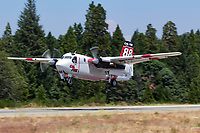 S-2F3AT Tracker, CDF 88, gets airborne from the Grass Valley Air Attack Base in Northern California enroute to a wildfire.