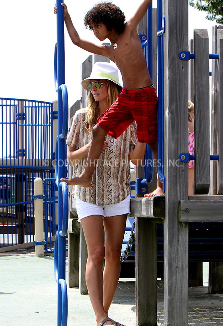 WWW.ACEPIXS.COM<br /> <br /> June 24 2013, New York City<br /> <br /> TV personality Heidi Klum and her boyfriend Martin Kristen took kids Leni, Henry, Johan and Lou out to a park on the Hudson River on June 24 2013 in New York City<br /> <br /> By Line: Nancy Rivera/ACE Pictures<br /> <br /> <br /> ACE Pictures, Inc.<br /> tel: 646 769 0430<br /> Email: info@acepixs.com<br /> www.acepixs.com