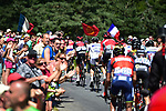 The breakaway group during Stage 15 of the 104th edition of the Tour de France 2017, running 189.5km from Laissac-Severac l'Eglise to Le Puy-en-Velay, France. 16th July 2017.<br /> Picture: ASO/Pauline Ballet   Cyclefile<br /> <br /> <br /> All photos usage must carry mandatory copyright credit (&copy; Cyclefile   ASO/Pauline Ballet)