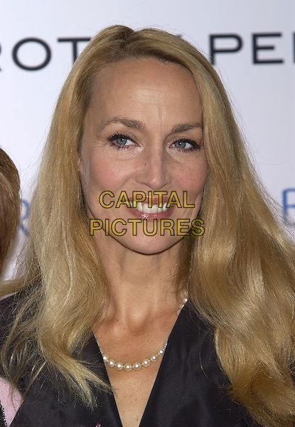 JERRY HALL.Hosts the Breat Cancer Care Fashion Show, Grosvenor House, Park Lane, October 6th 2004..portrait headshot black dress jacket pearls pearl necklace.Ref: PL.www.capitalpictures.com.sales@capitalpictures.com.©Capital Pictures.