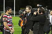 The game of Three Halves, a pre-season warm-up game between the Counties Manukau Steelers, Northland and the All Blacks, played at ECOLight Stadium, Pukekohe, on Friday August 12th 2016. Photo by Richard Spranger.