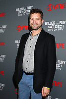 "LOS ANGELES - DEC 1:  Joshua Jackson at the Heavyweight Championship Of The World ""Wilder vs. Fury"" - Arrivals at the Staples Center on December 1, 2018 in Los Angeles, CA"