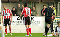 21/10/2006       Copyright Pic: James Stewart.File Name :sct_jspa21_gretna_v_clyde.PAUL MCHALE (6) GETS SENT OFF AFTER A  CHALLENGE ON RYAN MCGUFFIE ...Payments to :.James Stewart Photo Agency 19 Carronlea Drive, Falkirk. FK2 8DN      Vat Reg No. 607 6932 25.Office     : +44 (0)1324 570906     .Mobile   : +44 (0)7721 416997.Fax         : +44 (0)1324 570906.E-mail  :  jim@jspa.co.uk.If you require further information then contact Jim Stewart on any of the numbers above.........