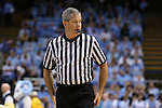 18 November 2015: Referee Tim Nestor. The University of North Carolina Tar Heels hosted the Wofford College Terriers at the Dean E. Smith Center in Chapel Hill, North Carolina in a 2015-16 NCAA Division I Men's Basketball game. UNC won the game 78-58.