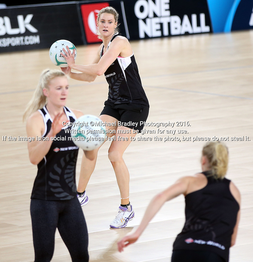 02.09.2016 Silver Ferns Jane Watson as the Silver Ferns have a walk though during training in Melbourne Australia ahead of their match against Australia. Mandatory Photo Credit ©Michael Bradley.