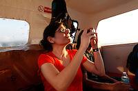 Boarding the Star Flyer, Puerto Caldera, Costa Rica, March 10, 2013.