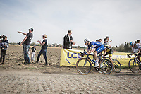 Niki Terpstra (NED/Quick Step Floors) chasing<br /> <br /> 116th Paris-Roubaix (1.UWT)<br /> 1 Day Race. Compiègne - Roubaix (257km)