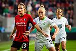 01.05.2019, RheinEnergie Stadion , Köln, GER, DFB Pokalfinale der Frauen, VfL Wolfsburg vs SC Freiburg, DFB REGULATIONS PROHIBIT ANY USE OF PHOTOGRAPHS AS IMAGE SEQUENCES AND/OR QUASI-VIDEO<br /> <br /> im Bild | picture shows:<br /> Sandra Starke (SC Freiburg Frauen #13) mit Pia-Sophie Wolter (VfL Wolfsburg #20),<br /> <br /> Foto © nordphoto / Rauch