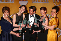 LOS ANGELES - JAN 27:  Actress Penelope Wilton, actress Michelle Dockery, actor Allen Leech, actress Amy Nutall and actress Sophie McSheara pose in the press room at the 2013 Screen Actor's Guild Awards at the Shrine Auditorium on January 27, 2013 in Los Angeles, CA