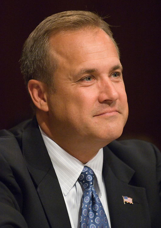 OMB Director nominee Jim Nussle testifies during the Senate Budget Committee confirmation hearing on Nussle's nomination on Thursday, July 26, 2007.