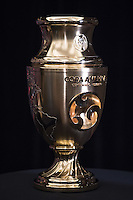 New York, NY - Friday June 24, 2016: Copa America Centenario trophy during a press conference prior to the final of the Copa America Centenario at The Westin New York at Times Square.<br /> <br /> Photo during American Cup USA 2016 Press Conference The Westin New York at Times Square---- Foto durante la Conferencia de Prensa previo a la gran final de la Copa America Centenario USA 2016, en la foto: Trofeo<br /> <br /> ---24/06/2016/MEXSPORT/ David Leah.