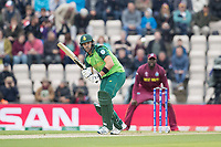 Aiden Markram  (South Africa) defends uppishly into the on sideduring South Africa vs West Indies, ICC World Cup Cricket at the Hampshire Bowl on 10th June 2019