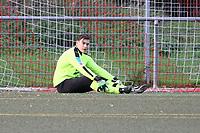 Torwart Max Sandner (SKV Büttelborn) enttäuscht - Büttelborn 31.10.2017: SKV Büttelborn vs. TSV Höchst