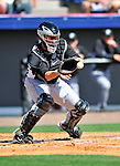 2 March 2011: Florida Marlins catcher John Buck in action during a Spring Training game against the Washington Nationals at Space Coast Stadium in Viera, Florida. The Nationals defeated the Marlins 8-4 in Grapefruit League action. Mandatory Credit: Ed Wolfstein Photo