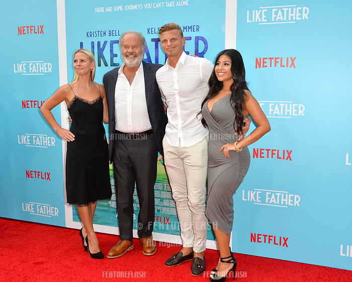Kelsey Grammer, Kayte Walsh &amp; Phil Walsh at the Los Angeles premiere of &quot;Like Father&quot; at the Arclight Theatre, Los Angeles, USA 31 July 2018<br /> Picture: Paul Smith/Featureflash/SilverHub 0208 004 5359 sales@silverhubmedia.com