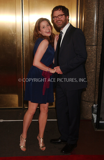 WWW.ACEPIXS.COM . . . . . ....May 14 2007, New York City....Actor Jenna Fischer AND Rainn Wilson attends the NBC Upfronts at Radio City Music Hall.....Please byline: KRISTIN CALLAHAN - ACEPIXS.COM.. . . . . . ..Ace Pictures, Inc:  ..(646) 769 0430..e-mail: info@acepixs.com..web: http://www.acepixs.com