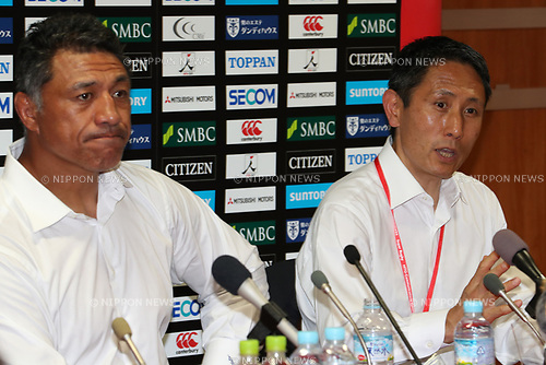 (L to R)   Filo Tiatia Head Coach (Sunwolves),  CEO/Yuji Watase CEO (Sunwolves),<br /> JULY 15, 2017 - Rugby : Super Rugby match between Sunwolves 48-21 Blues at Prince Chichibu Memorial Stadium in Tokyo, Japan. (Photo by AFLO)