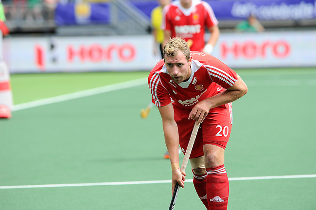 The Hague, Netherlands, June 15: Dan Shingles #20 of England looks on during the field hockey bronze match (Men) between Argentina and England on June 15, 2014 during the World Cup 2014 at Kyocera Stadium in The Hague, Netherlands. Final score 2-0 (0-0)  (Photo by Dirk Markgraf / www.265-images.com) *** Local caption ***