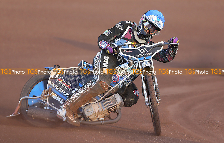 Adam Ellis of Lakeside Hammers - Lakeside Hammers vs King's Lynn Stars, Elite League Speedway at the Arena Essex Raceway, Pufleet - 19/05/14 - MANDATORY CREDIT: Rob Newell/TGSPHOTO - Self billing applies where appropriate - 0845 094 6026 - contact@tgsphoto.co.uk - NO UNPAID USE