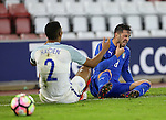 England's Isaac Hadyn tussles with Italy's Vittorio Parigini during the Under 21 International Friendly match at the St Mary's Stadium, Southampton. Picture date November 10th, 2016 Pic David Klein/Sportimage