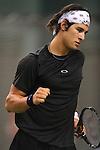 TENIS, BEOGRAD, 17. Feb. 2010. -  Srpski teniser Ilija Bozoljac tokom meca protiv Benedikta Dorsa iz Nemacke u okviru 1. kola Gemax MTS Open 2009. Foto: Nenad Negovanovic