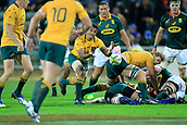 9th September 2017, nib Stadium, Perth, Australia; Supersport Rugby Championship, Australia versus South Africa; Will Genia of the Australian Wallabies passes the ball from the ruck during the second half