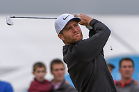 Lucas Bjerregaard (DEN) watches his tee shot on 2 during round 2 of the AT&T Byron Nelson, Trinity Forest Golf Club, Dallas, Texas, USA. 5/10/2019.<br /> Picture: Golffile | Ken Murray<br /> <br /> <br /> All photo usage must carry mandatory copyright credit (© Golffile | Ken Murray)