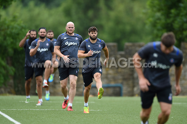 Guy Mercer of Bath Rugby in action. Bath Rugby pre-season S&C session on June 22, 2017 at Farleigh House in Bath, England. Photo by: Patrick Khachfe / Onside Images