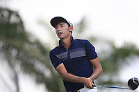 Micah Lauren Shin (USA) in action on the 5th tee during Round 1 of the Maybank Championship at the Saujana Golf and Country Club in Kuala Lumpur on Thursday 1st February 2018.<br /> Picture:  Thos Caffrey / www.golffile.ie<br /> <br /> All photo usage must carry mandatory copyright credit (&copy; Golffile | Thos Caffrey)