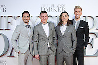 "Collabro<br /> at the ""Fifty Shades Darker"" premiere, Odeon Leicester Square, London.<br /> <br /> <br /> ©Ash Knotek  D3223  09/02/2017"
