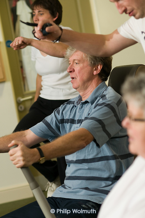 Techno Gym session for residents and the local community at Esk Moors Lodge, Castleton, North Yorkshire, a sheltered housing scheme and 'extra care' centre run by Esk Moors Caring.