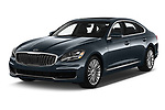 2019 KIA K900 Luxury 4 Door Sedan Angular Front stock photos of front three quarter view